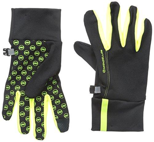 Manzella Liner Glove - Manzella Women's Racer Touch Tip Gloves, Hi Viz Yellow, Medium/Large