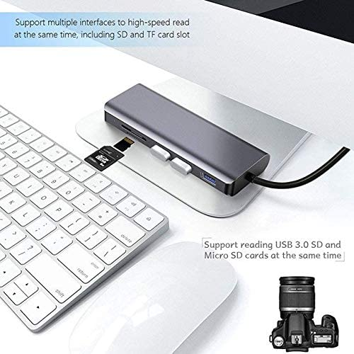 Broonel 7-in-1 Aluminium Alloy USB C Adapter with 3 5Gbps USB Ports//Micro SD Memory Slot 2nd Gen Compatible with The Lenovo ThinkPad X1 Extreme 15.6 Inch