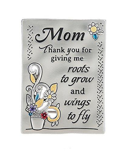 Ganz Inspirations Family Grateful Heart Mini Message Plaque Magnet Mom/Flowers-ER59714