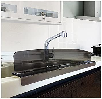 Kitchen Sink Splash Guard Amazon kitchen sink splash guard slate gray kitchen dining kitchen sink splash guard slate gray workwithnaturefo