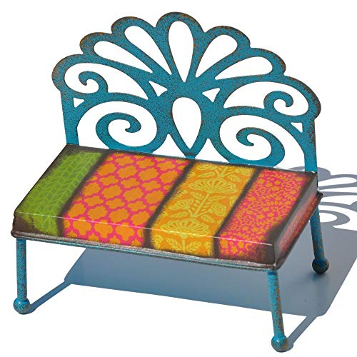Studio M Filigree Patterned Bench for Miniature Garden, Fairy Garden