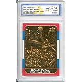 MICHAEL JORDAN 1986 Fleer ROOKIE 23KT Gold Card R/W/B Border Graded GEM MINT 10
