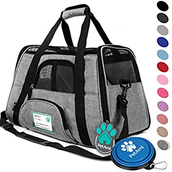 PetAmi Premium Airline Approved Soft-Sided Pet Travel Carrier | Ventilated, Comfortable Design with Safety Features | Ideal for Small to Medium Sized Cats, ...