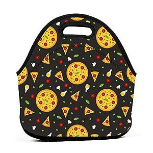 Borsa da pranzo in neoprene portatile con motivo a pizza con cerniera per ufficio e scatola da pranzo leggera per picnic… 5 spesavip