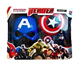 RIANZ Avengers 3 in 1 Gift-set 1 Disk Throwing Shield + 1 Mask + 1 Action Figure (CAPTAIN AMERICA)