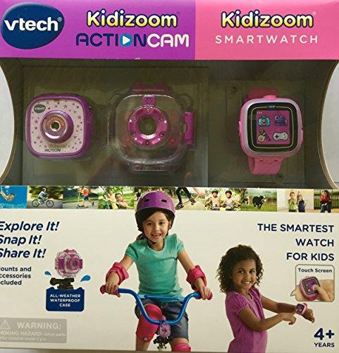 Vtech Kidizoom Smartwatch plus Action Cam Bundle for Girls