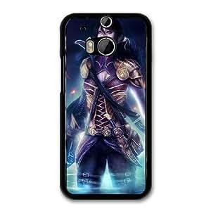 Fantasy Girl Elf A1C8WO1X Caso funda HTC One M8 Caso funda del teléfono celular Negro