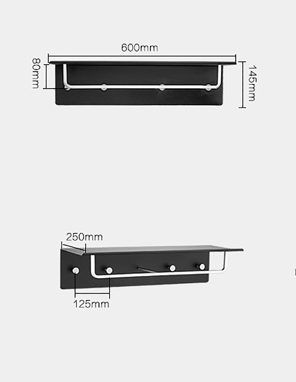 バスルームの棚 ブラック穿孔タオルラックスペースアルミタオルラックバスルームタオルラックハードウェアバスルームアクセサリーフックバスルームラック バスルームタオル収納ラック (色 : B) B07DBW9TS8 B B