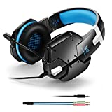 Gaming Headset 3.5mm PC Game Stereo Headphones with Mic, Over-Ear Headband Professional Headset for PlayStation 4