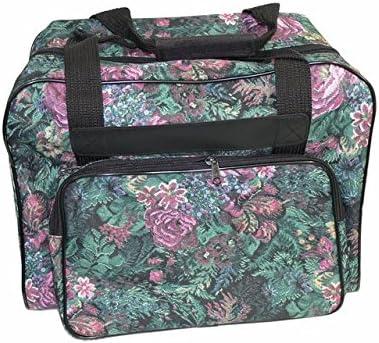 Funda para máquina overlock y de coser, diseño floral, Nähmaschinentasche: Amazon.es: Hogar