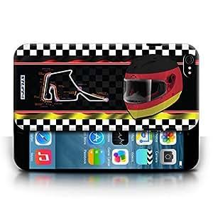 KOBALT? Protective Hard Back Phone Case / Cover for Apple iPhone 6/6S | Germany/Hockenheim Design | F1 Track Flag Collection