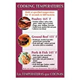 "DayMark IT112097 Laminated Workplace Safety and Educational Poster, Cooking Temperatures, 11"" x 17"""