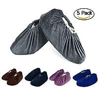 NKTM Non-Slip Washable Reusable Shoe Covers - 5 pack