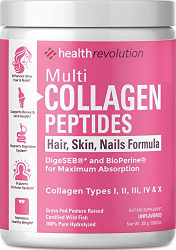 Multi-Collagen-Powder-for-Women-Triple-Refined-for-Easiest-Mixing-5-Hydrolyzed-Collagen-Peptides-Types-I-II-III-IV-XSupports-Joints-Skin-Hair-and-NailsNon-GMO-Gluten-Free-Unflavored