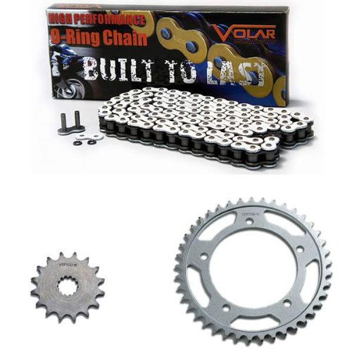 2006-2010 Suzuki GSXR 600 O-Ring Chain and Sprocket Kit - White Volar Motorsport Inc