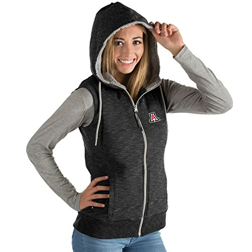 Antigua Ladies Heather (University of Arizona Ladies Blitz Heather Jersey Hooded Vest (Medium))