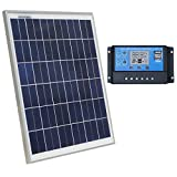 Cheap ECO-WORTHY 12 Volt 20W Solar Charging Kit: 1pc 20 Watt Polycrystalline Photovoltaic Solar Panel + 20 Amp 12V/24V PWM Solar Charge Controller