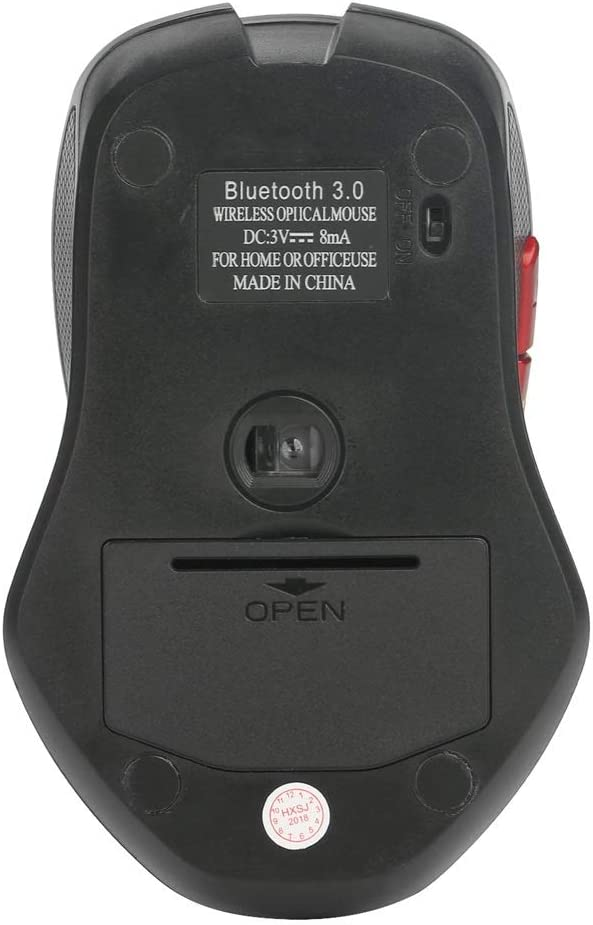 IhDFR Wireless Mouse Silent Bluetooth 3.0 Office 2400DPI Game USB for Laptop PC Ergonomic Battery Black