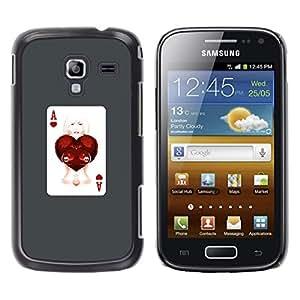 Caucho caso de Shell duro de la cubierta de accesorios de protección BY RAYDREAMMM - Samsung Galaxy Ace 2 - As Corazones