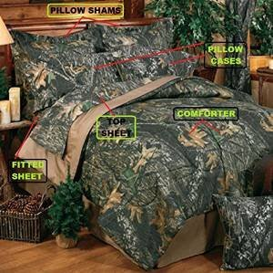 Bed in a Bag Mossy Oak Breakup Camo Bed Set Avail Twin, Full, Queen or King (King)