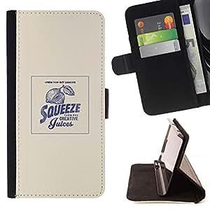 Momo Phone Case / Flip Funda de Cuero Case Cover - Apriete divertido cita de motivación - LG G4c Curve H522Y (G4 MINI), NOT FOR LG G4