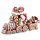 Department 56 Possible Dream Santas Christmas Traditions Gingerbread Train Figurine, 10.5', Multicolor