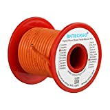 BNTECHGO 16 Gauge Silicone Wire Spool Orange 25 feet Ultra Flexible High Temp 200 deg C 600V 16 AWG Silicone Rubber Wire 252 Strands of Tinned Copper Wire Stranded Wire for Model Battery Low Impedance