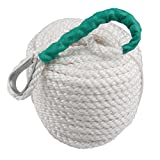 1/2'' 100' Boat Rope, Bang4buck 1/2 Inch 100 Feet Nylon Docking Rope Three Strand Dockline Braided Anchor Line / Sailboat / Sled Line with Thimble and 5850LB Breaking Strain- Super Strong