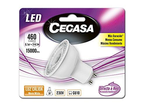 Cegasa Bombillas LED con Luz Cálida 2700K GU10, 1 W, Blanco 54x50x50 cm: Amazon.es: Iluminación