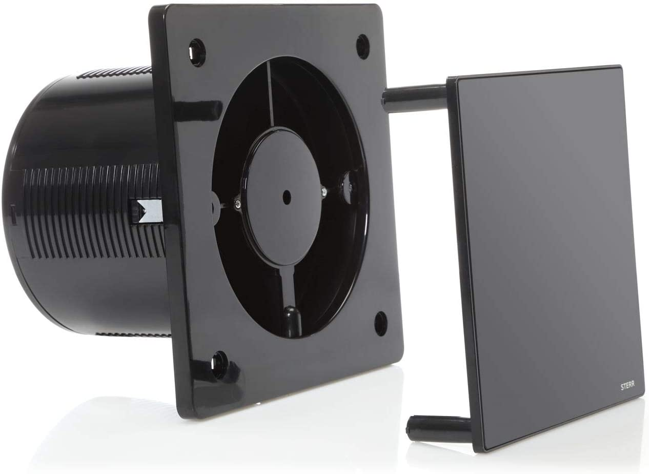 Negro extractor de ba/ño con retroiluminaci/ón LED BFS100LP-B STERR PIR