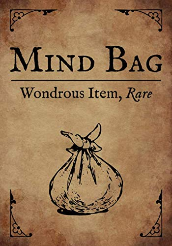 RPG Journal: Blank college ruled notebook for role playing gamers: Wondrous Item: Mind Bag