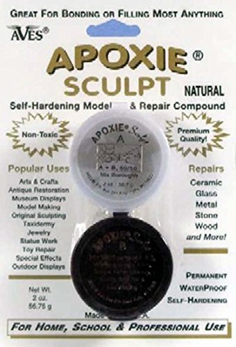 Aves Apoxie Sculpt Natural 2-Part Self-Hardening Modeling Compound 1/4 lb by Aves