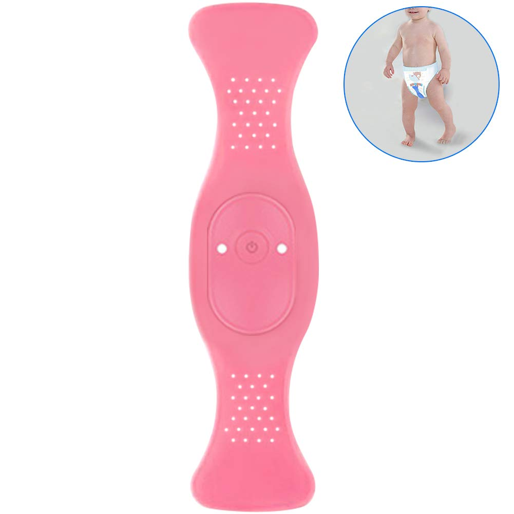 WINGOFFLY Wireless Bedwetting Alarm Bedwetting Solution Enuresis Alarm Incontinence and AraspBaby Whereabouts Potty Training, Pink