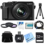 Panasonic LUMIX LX100 DMC-LX100K DMCLX100K Integrated Leica DC Lens Black Camera Bundle – Includes Camera, 32GB SD Card & Reader, Bag, 43mm Filter Kit, Battery, HDMI to Micro-HDMI Cable, Tripod & more For Sale