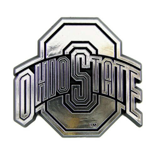 NCAA Ohio State Buckeyes Chrome Automobile Emblem (Buckeyes Ohio State Toys)