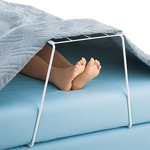 Blanket Lift Guard Bed Foot Cradle, White, One - Slide Collection Bar