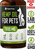 Hemp Oil Extract for Dogs & Cats (7000MG / 30ML) - 100% Organic Hip & Joint Pain Relief Food Supplement - Anxiety and Stress Relief Hypoallergenic Hemp Oil - Natural Anti-Inflammatory Calming Pet Treats - Made In USA