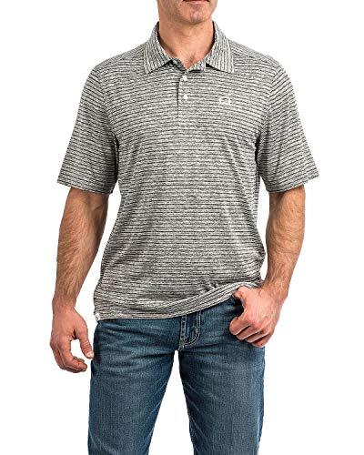 Cinch Men's Arenaflex Polo Shirt, Cesar Heather Grey, XL