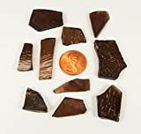 """""""Copper Brown"""" Stained Glass Cobbles 2.5 Ounces"""