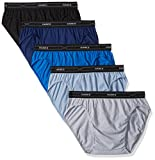 Hanes Men's 5-Pack X-Temp Low Rise Sport Brief, Assorted, Large