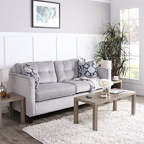 WE Furniture 3 Pack Wood Coffee Table Set, Driftwood
