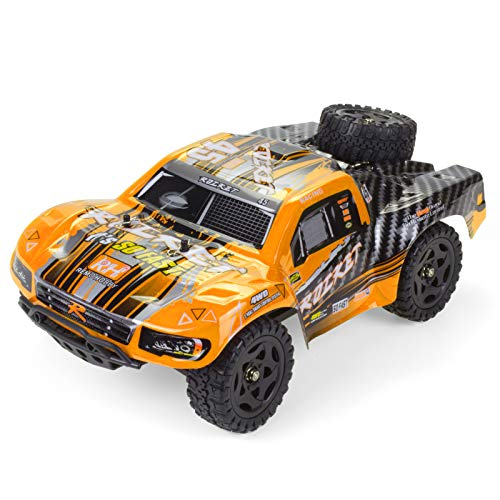 Cheerwing 1:16 2.4Ghz 4WD High Speed RC Off-Road Monster Truck Brushed Remote Control Car (Orange)