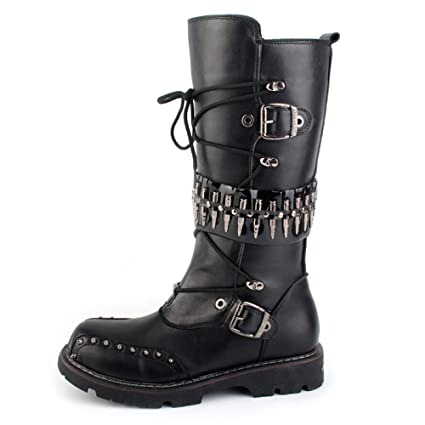 0202f2518a2 Amazon.com: Kyusong Mens High Top Genuine Leather Combat Boots ...