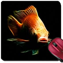 Liili Suqare Mousepad 8x8 Inch Mouse Pads/Mat ID: 27814971 Nile or red tilapia Oreochromis niloticus isolated on black studio aquarium shot
