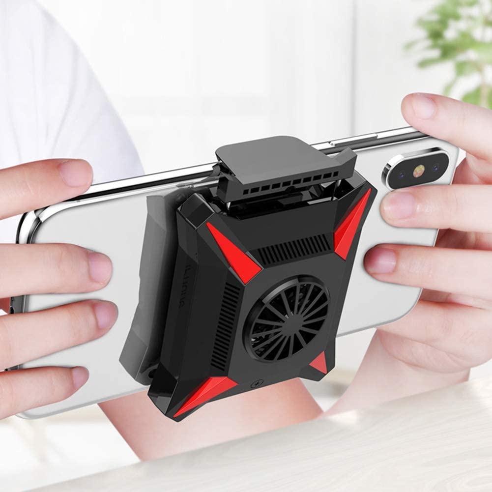 JZH-Light Mobile Phone Radiator Cooler Phone Stand Universal USB Phone Cooling Fan Phone Holder for iPhone Andorid Smartphone