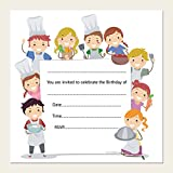 Kids birthday invitations pizza party pack of 10 amazon kids birthday invitations cooking pizza party pack of 10 stopboris Image collections