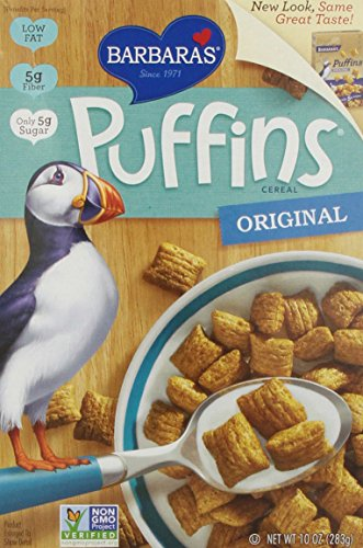- Barbara's Bakery Puffins Cereal, Original, 10 Ounce Box