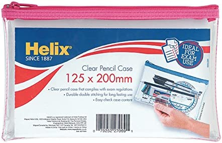 /Transparent Helix Oxford 930710/8//12,7/cm Trousse /à crayons/