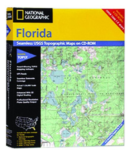 National Geographic TOPO! Florida Map CD-ROM (Windows)