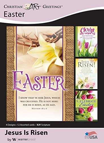 Jesus Is Risen - Easter Greeting Cards - KJV Scripture - (Box of 12) for $<!--$7.74-->